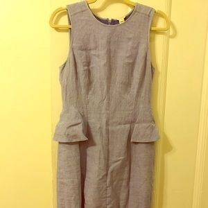 J Crew Linen Peplum dress